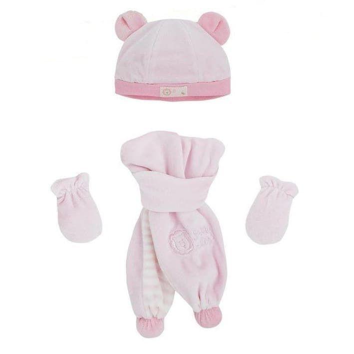 Σετ σκουφάκι - γάντια - κασκόλ για νεογέννητο Mayoral - Σκουφάκια ... 5d64960bcfe