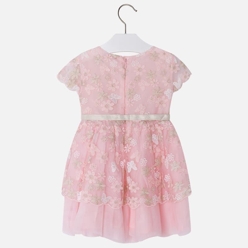 12390a53373 Φόρεμα Τούλι Κεντητό με Λουλούδια και Φιόγκο Mayoral - Φορέματα ...