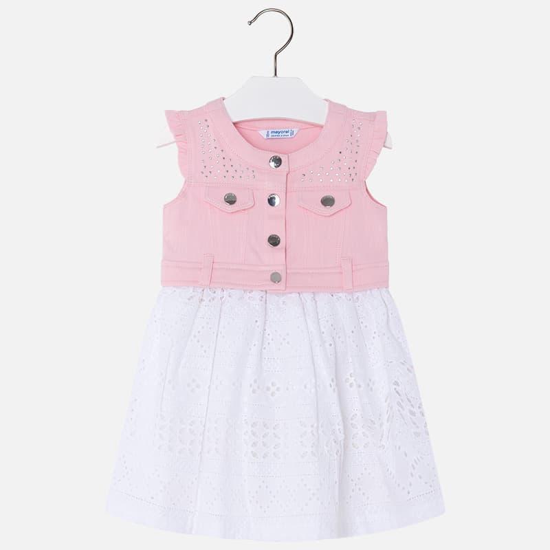 fe7d620a99c Φόρεμα Ροζ με Λευκό Mayoral Φόρεμα Ροζ με Λευκό Mayoral ...