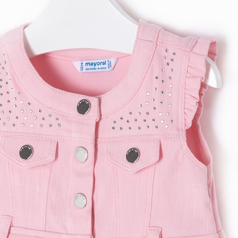 4bcb6308c9e Φόρεμα Ροζ με Λευκό Mayoral - Mayoral στο Babyshop