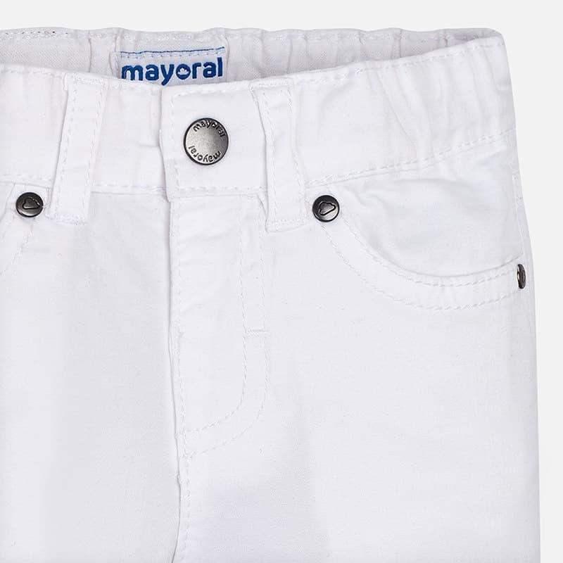 6b7f8e42492 Παντελόνι Μακρύ Καπαρτινέ Λευκό - Mayoral στο Babyshop