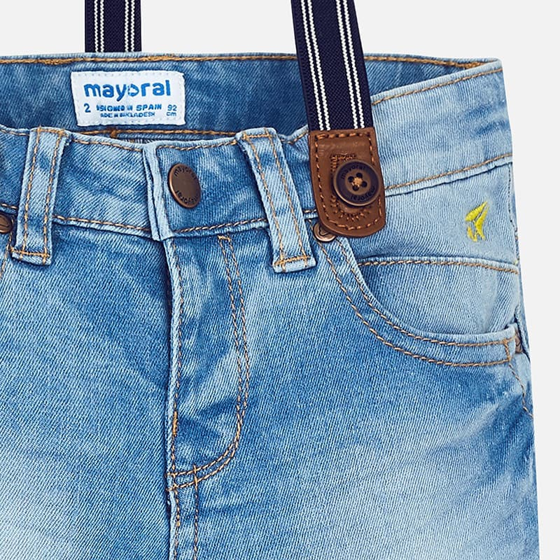 972830e39e5 Παντελόνι Τζιν με Τιράντες Mayoral - Παντελόνια-Βερμούδες στο Babyshop