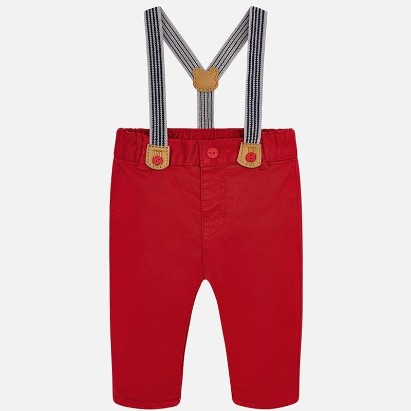 65e6321019b5 Παντελόνι Μακρύ Τιράντες Κόκκινο Mayoral - Mayoral στο Babyshop