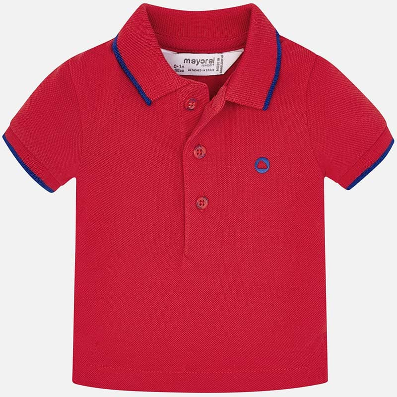 bbe32d64245a Πόλο Κοντομάνικο Βασικό Κόκκινο Mayoral - Μπλούζες στο Babyshop