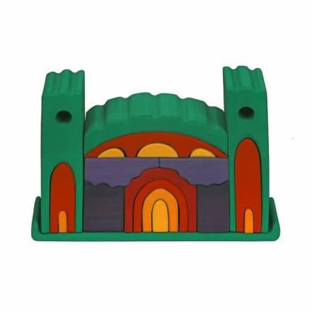 Ξύλινο Παζλ 3D - Κάστρο της Nictoys