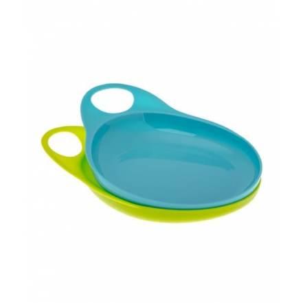 Σετ 2 Πιάτα Easy-Hold Weaning (Γαλάζιο-Πράσινο) Brothermax