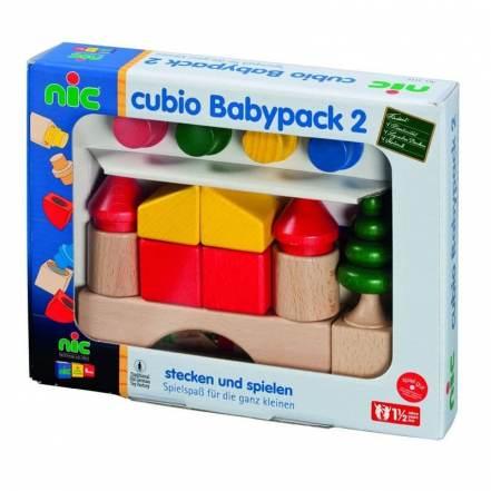 Ξύλινοι Κύβοι Cubio Babypack 2 της Nictoys