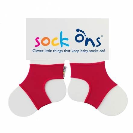 Sock Ons Κόκκινες για να μην Βγάζει τις Κάλτσες του