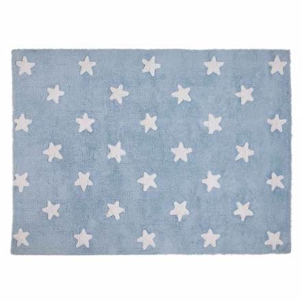 Χαλί Δωματίου Γαλάζιο με Λευκά Αστέρια της Lorena Canals
