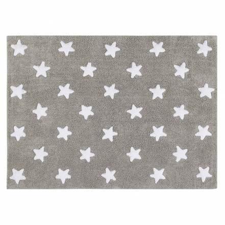 Χαλί Δωματίου Γκρι με Λευκά Αστέρια της Lorena Canals