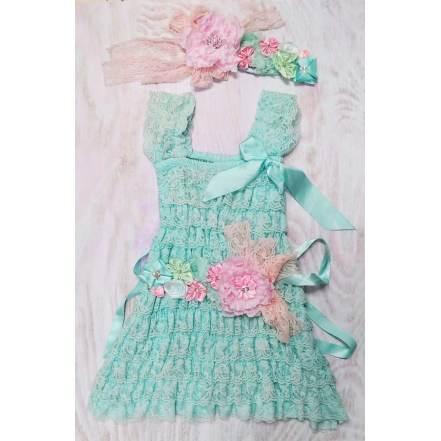 Φόρεμα Βεραμάν με Κορδέλα Λουλούδια Royal Baby