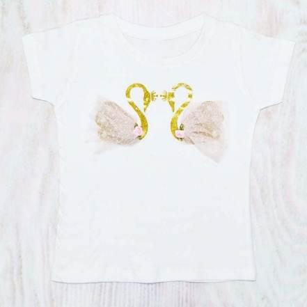 Μπλούζα Κύκνοι Λευκή Haute Couture