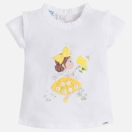 Μπλούζα Λευκό-Κίτρινο Mayoral