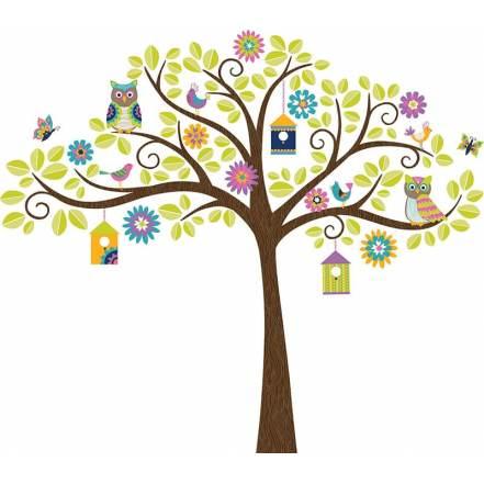 """Αυτοκόλλητα Τοίχου """"Χαρούμενο Δέντρο"""" της WallPops"""