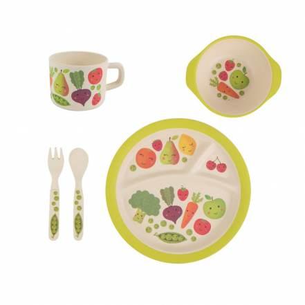 Σετ Πιατάκι, Μπολάκι, Ποτηράκι Φρούτα & Λαχανικά της Sass & Belle