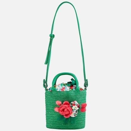 Τσάντα Απλικέ Λουλούδι Πράσινη Mayoral