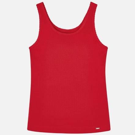 Μπλούζα Κόκκινη Τιράντες Βασική Mayoral