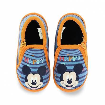Παντόφλες Μποτάκι Μπλε Ριγέ Disney Mickey