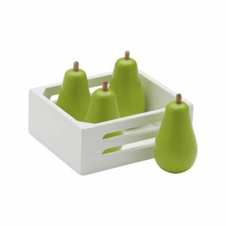Καλάθι με Ξύλινα Αχλάδια της Kids Concept