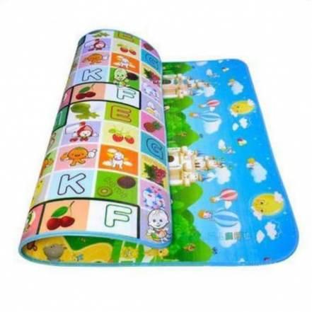 Πολύ Μεγάλο Παιδικό Μαλακό Ισοθερμικό Χαλί Δραστηριοτήτων Διπλής Όψης Playmat 2.00 x 1.80cm