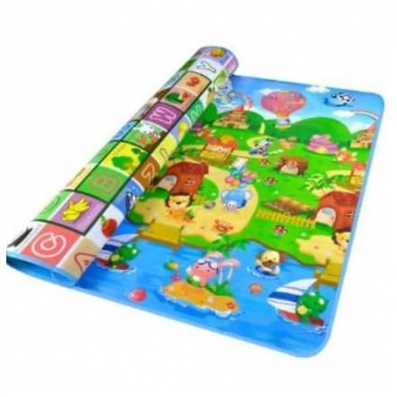 Μεγάλο Παιδικό Μαλακό Ισοθερμικό Χαλί Δραστηριοτήτων Διπλής Όψης Playmat 1.80 x 1.50cm