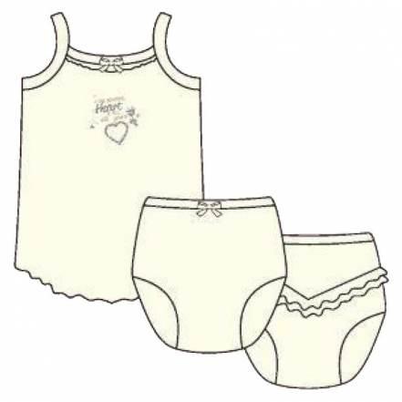 Βαπτιστικό Σετ Φανελάκι Τιράντα & Βρακάκι της Pretty Baby