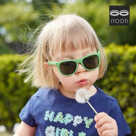 Γυαλιά Ηλίου iTooTi με Εύκαμπτο Σκελετό και Πλαίσιο Πράσινο By TooTiny