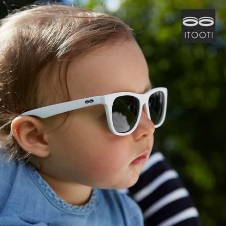 Γυαλιά Ηλίου iTooTi με Εύκαμπτο Σκελετό και Πλαίσιο Λευκό By TooTiny