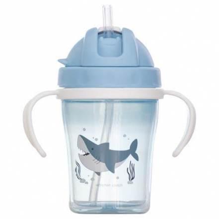 Εκπαιδευτικό Ποτήρι με Καλαμάκι Καρχαρίας Stephen Joseph