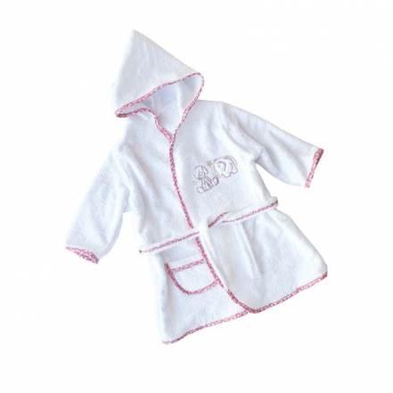Μπουρνούζι Happy Ροζ-Λευκο Baby Star