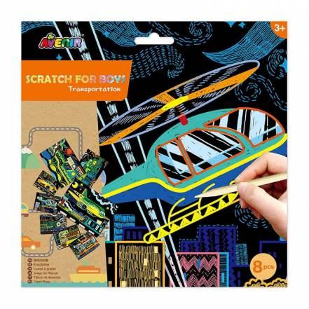Εικόνες με Σκράτς Οχήματα Scratch Transportation 3+ της Avenir