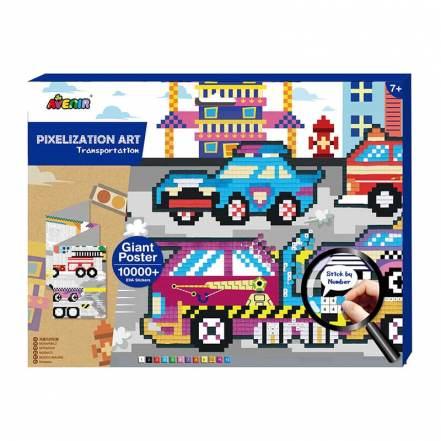 Εικόνες Πίξελ Οχήματα Pixelation Art Transportation 5+ της Avenir