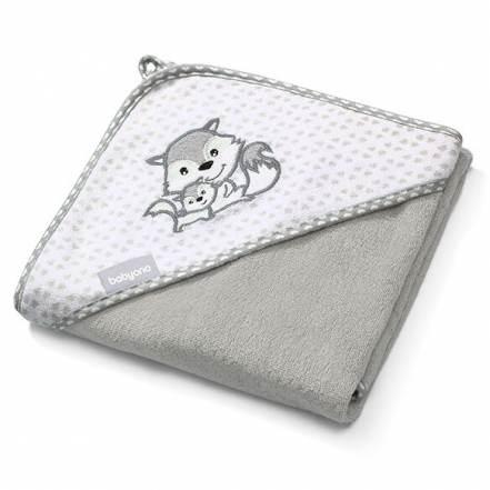 Πετσέτα από Μπαμπού με Κουκούλα Γκρι 100x100 της BabyOno