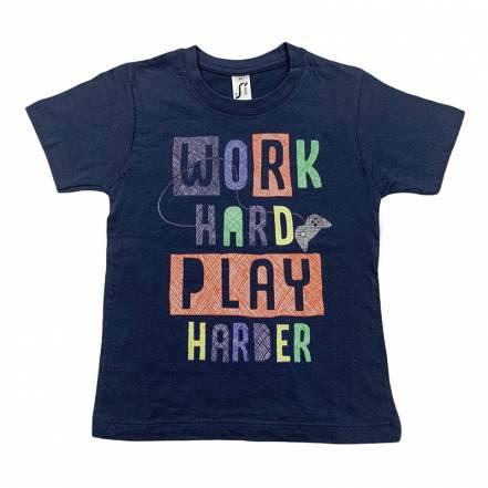 Μπλούζα Κοντομάνικη Work Hard Play Harder Sol's