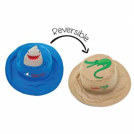 Καπέλο Διπλής Όψης UPF 50+ Shark/Alligator (Cotton) FlapJackKids