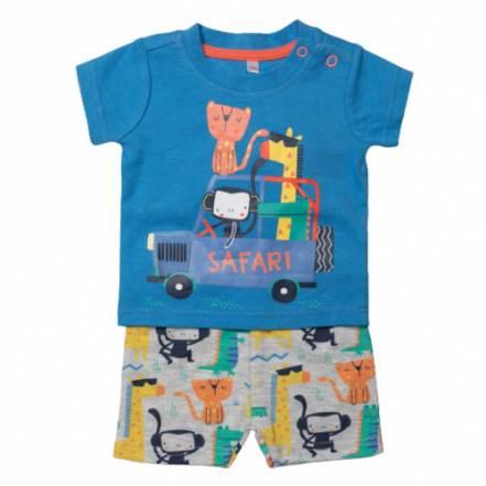 Μπλούζα Κοντομάνικη με Παντελόνι Κοντό Safari Lily & Jack