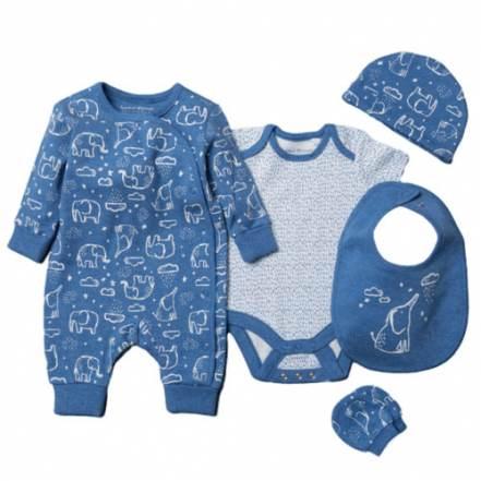 Φορμάκι Μπλε Ελέφαντες Homegrown Baby Σετ 5τμχ.