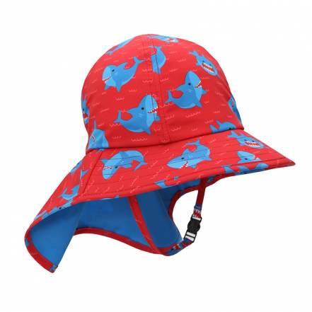 Καπέλο με Γείσο και Προστασία Αυχένα Καρχαρίας UPF50+ της Zoocchini