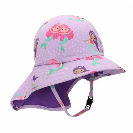 Καπέλο με Γείσο και Προστασία Αυχένα Γοργόνα UPF50+ της Zoocchini