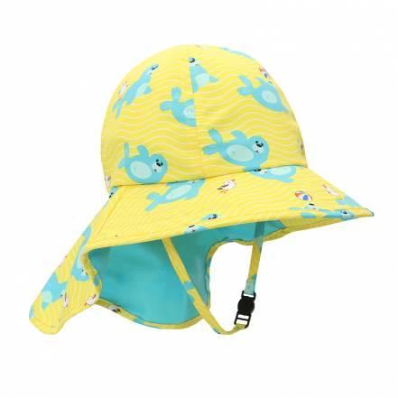 Καπέλο με Γείσο και Προστασία Αυχένα Φώκια UPF50+ της Zoocchini