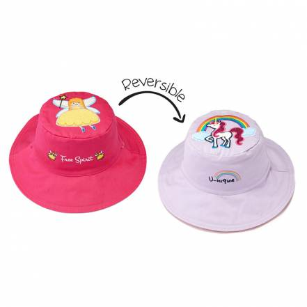 Καπέλο Διπλής Όψης UPF 50+ Princess/Unicorn (Cotton) FlapJackKids